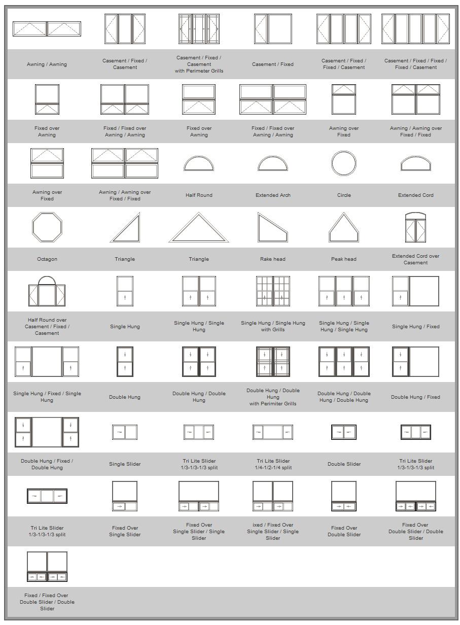 vinyl architectural shape windows